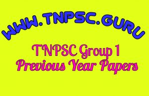 TNPSC Group 1 Previous Year Papers