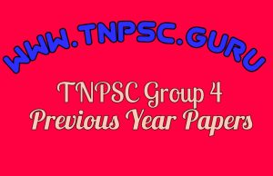 TNPSC Group 4 Previous Year Papers